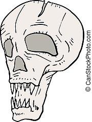 fear skull - Creative design of fear skull