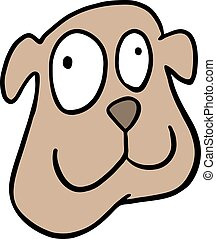 funny dog face - Creative design of funny dog face
