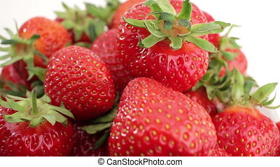 Fresh, ripe, juicy strawberries rotate - Fresh, ripe, juicy...