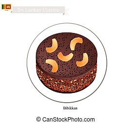 Bibikkan or Sri Lankan Coconut Treacle Cake - Sri Lankan...