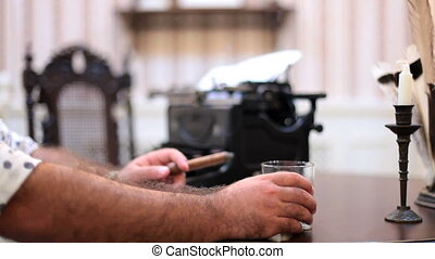 Young Writer Creating A Book - CLOSE UP shot of hands of a...