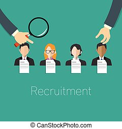 employee recruitment concept vector illustration