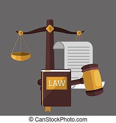 Law design. Justice icon. Grey background, vector...