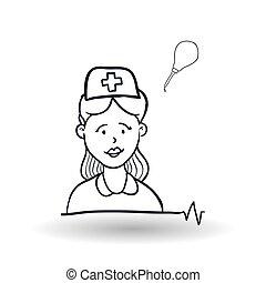 Medical care design health care icon sketch illustration -...