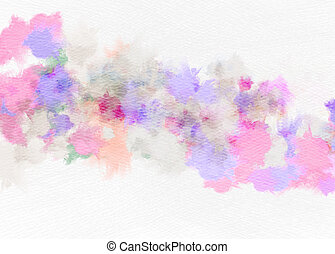 Abstract watercolor background. Abstract colorful digital art painting.