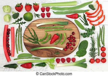 Healthy Fresh Super Food - Health and super food of red and...