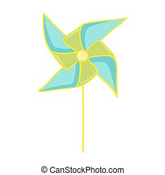 Pinwheel toy illustration - Pinwheel. Colorful paper...
