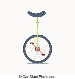 Unicycle vector icon - Vector illustration of a unicycle...