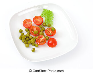Vegetarian food on a plate
