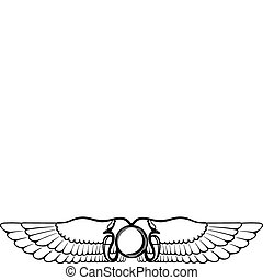 winged - The image of the Egyptian symbolics