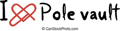 Pole vault love icon - Creative design of Pole vault love...