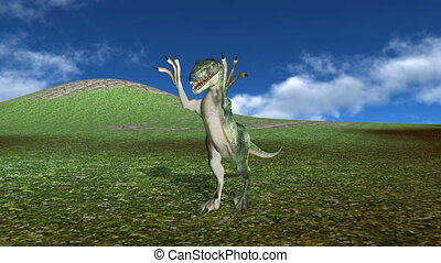 Dinosaur - 3D CG rendering of a dinosaur