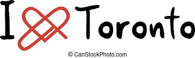 Toronto love icon - Creative design of Toronto love icon