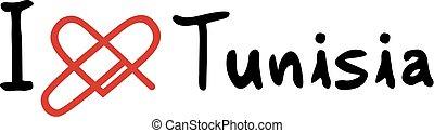 Tunisia love icon - Creative design of Tunisia love icon