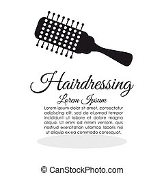 Barber shop hair care concept isolated illustration - Hair...