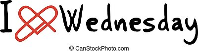 Wednesday love message - Creative design of Wednesday love...