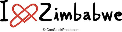 Zimbabwe love message - Creative design of Zimbabwe love...