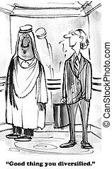 Diversified Portfolio - Business cartoon about a portfolio...