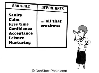Stopping the Craziness - Business cartoon about a...