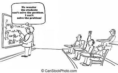 Unsolvable Math Problem - Education cartoon about an...