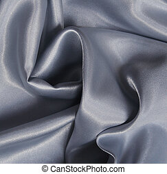 Smooth elegant silvery grey silk can use as background