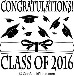 Congratulations Class of 2016 is an illustration of a...