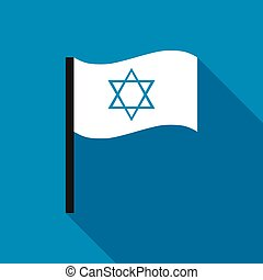 White flag with the Star of David icon