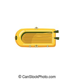Inflatable boat icon, cartoon style - Inflatable boat icon...