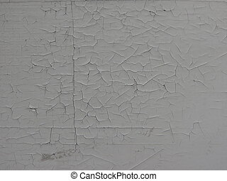Old wall with damaged white painting - Damage caused by damp...