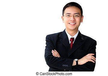 Good looking asian business man - Young good looking asian...