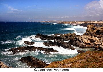 Porto Covo coastline - View of the beautiful coastline of...