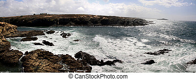 Porto Covo coastline - View of the beautiful coastline of...