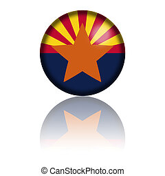 Arizona Flag Sphere 3D Rendering - 3D sphere or badge of...