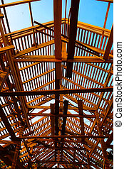 Roof structure,wood roof