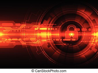 Abstract security digital technology background Illustration...