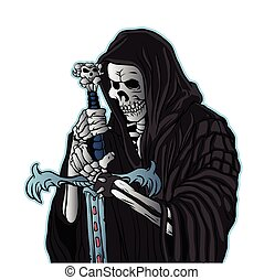 grim reaper with sword .grim reaper tattoo.