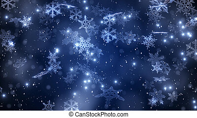 Composition of snowflakes and frost. - Composition of...