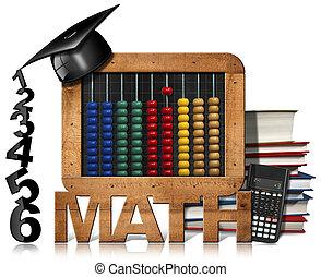 黒板, 計算機, そろばん, 帽子, 卒業