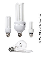 Energy Efficient Light Bulbs - Three energy-efficient light...