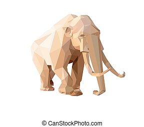 Mammoth - Low polygon style illustration of a mammoth