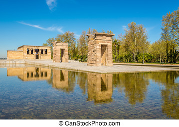 Temple of Debod in Madrid - Spain