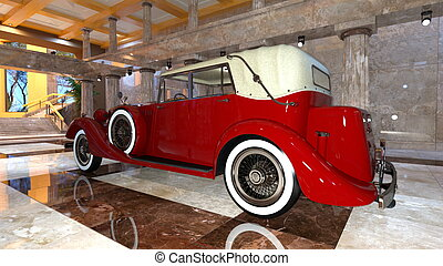 Classic car - 3D CG rendering of a classic car