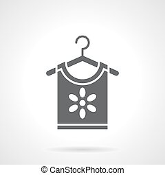 Floral print for clothing glyph style vector icon