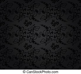 Seamless luxury charcoal wallpaper