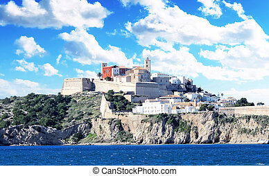 Ibiza town, view to the fort