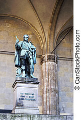 Statue of Graf V Tilly in Munich - The statue of Graf V...