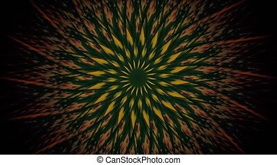 Abstract rotating stars in yellow