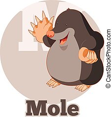 ABC Cartoon Mole - Vector image of the ABC Cartoon Mole