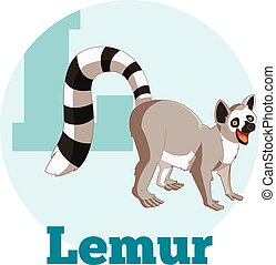 ABC Cartoon Lemur - Vector image of the ABC Cartoon Lemur