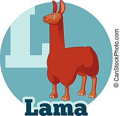 ABC Cartoon Lama - Vector image of the ABC Cartoon Lama